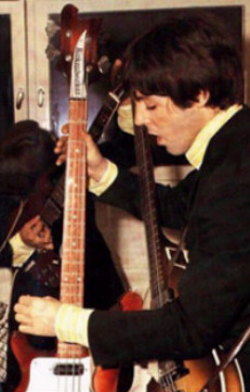 Early Shot Of Paul With His Rickenbacker Bass
